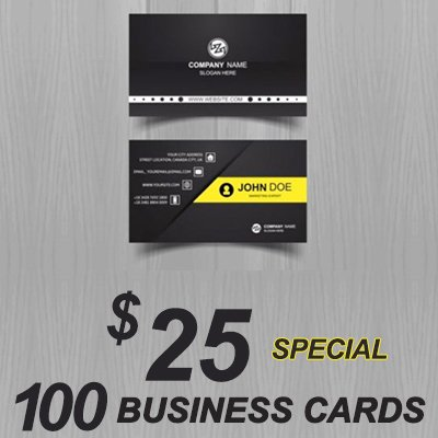 Atlanta Business Card Speical 100 cards