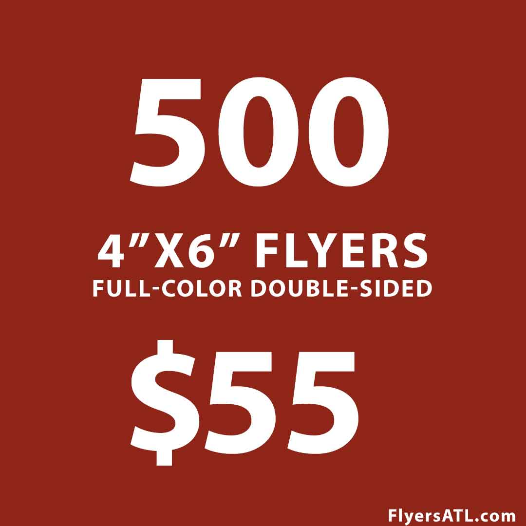 500 Business Flyers Postcards $50 Special