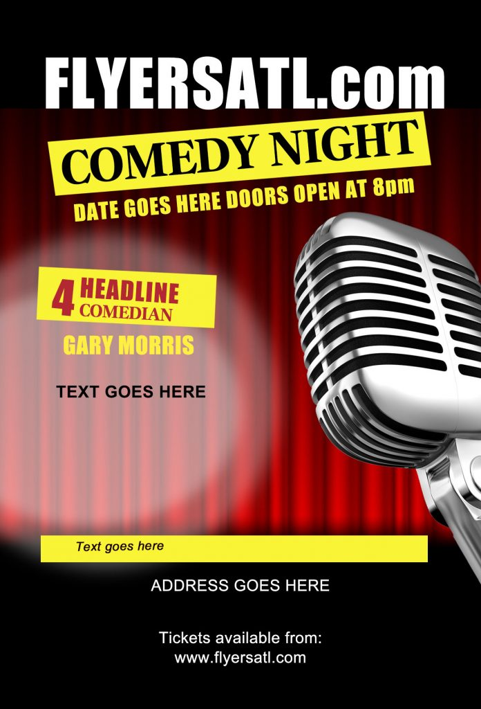 Free PSD Comedy Club Flyer in Atlanta GA Print Shop