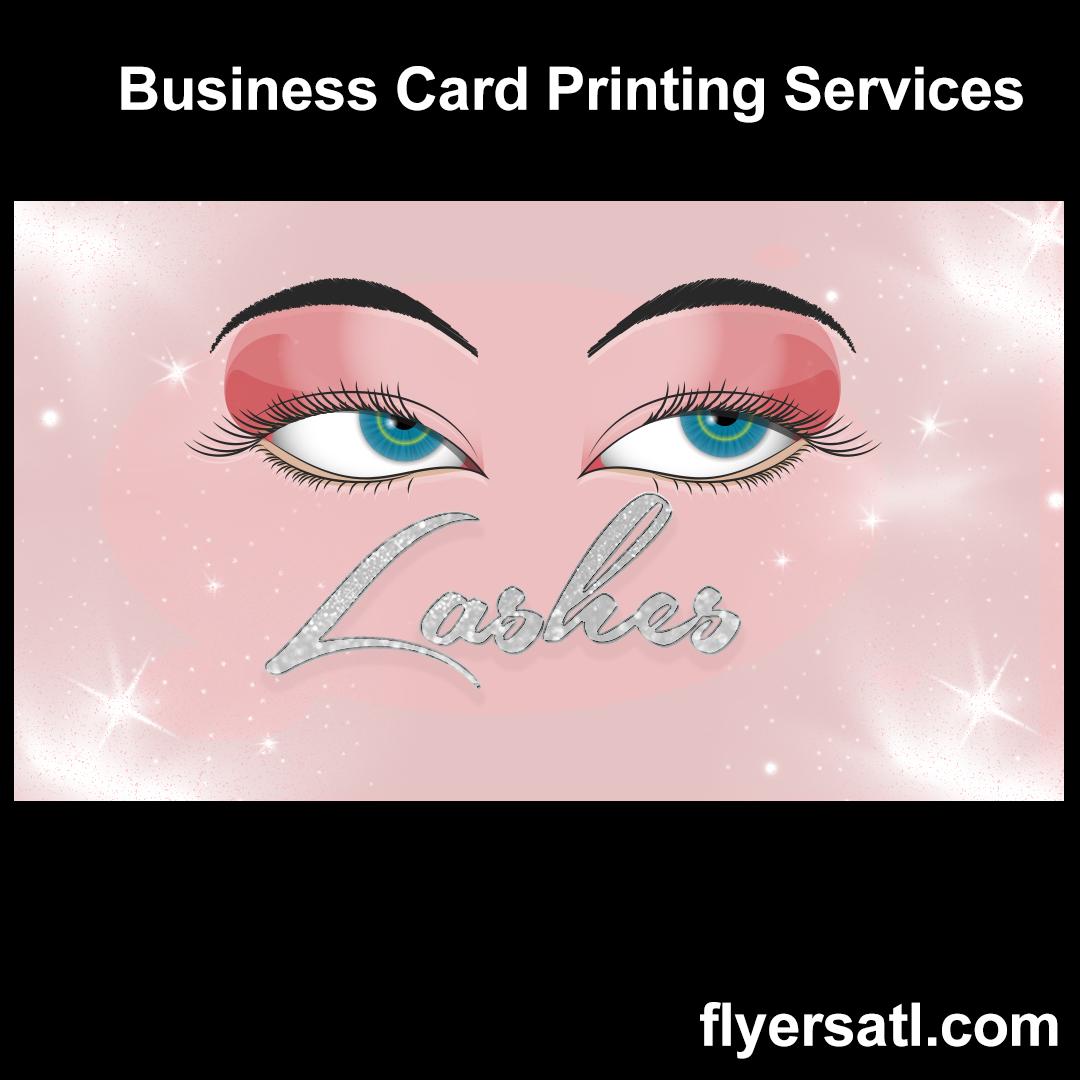 Lashes Business Card Design and Print