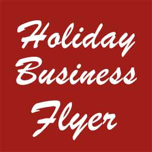 Print Holiday Business Flyer Postcard