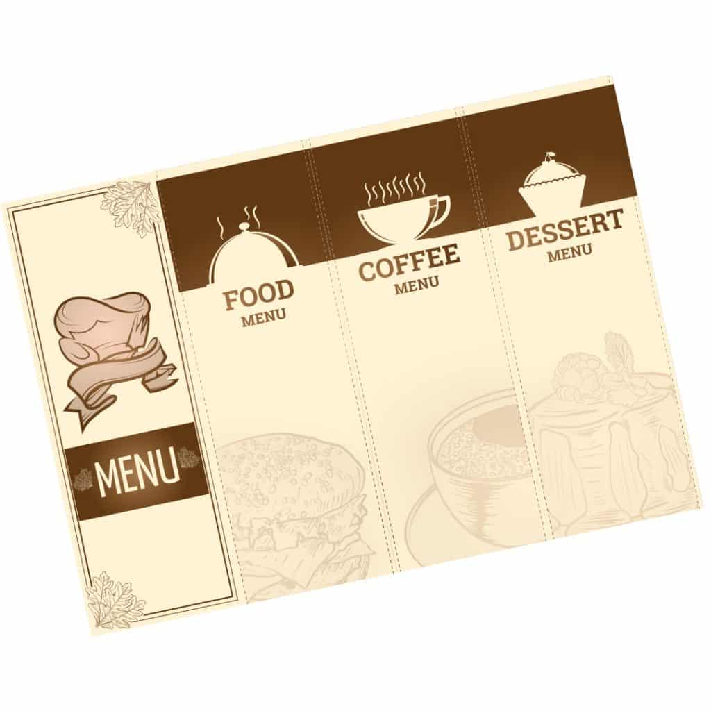 To Go Menu / Takeout Menu Printing and Design Services