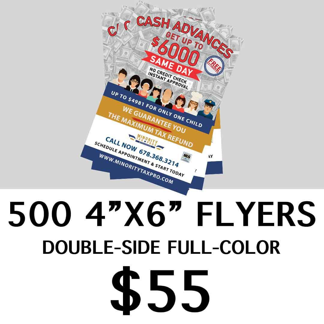 500 flyers printing Atlanta