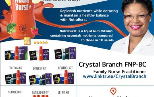 NutraBurst Bottle Vitamin Flyer Design Atlanta