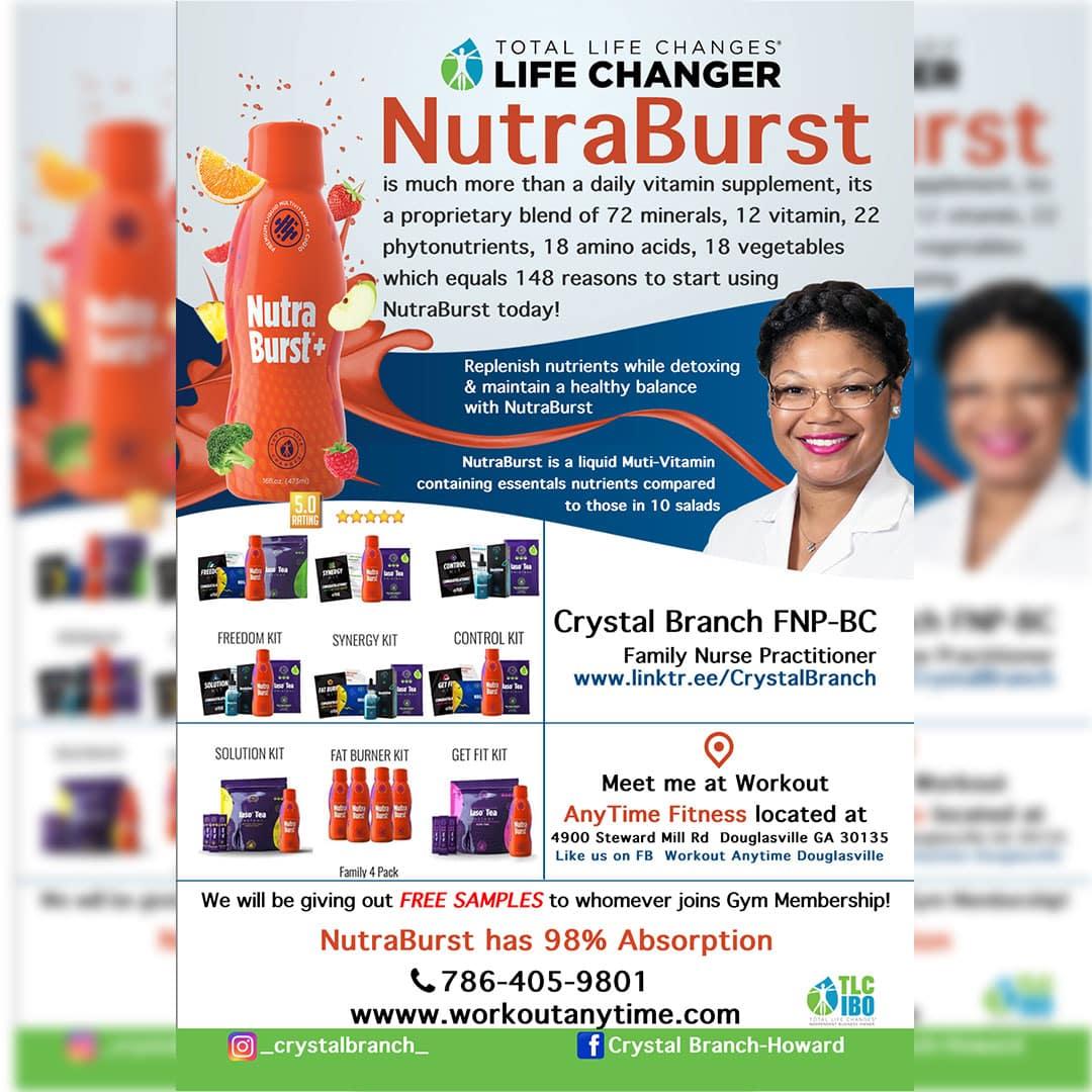 NutraBurst Bottle Vitamin Flyer Design and Print