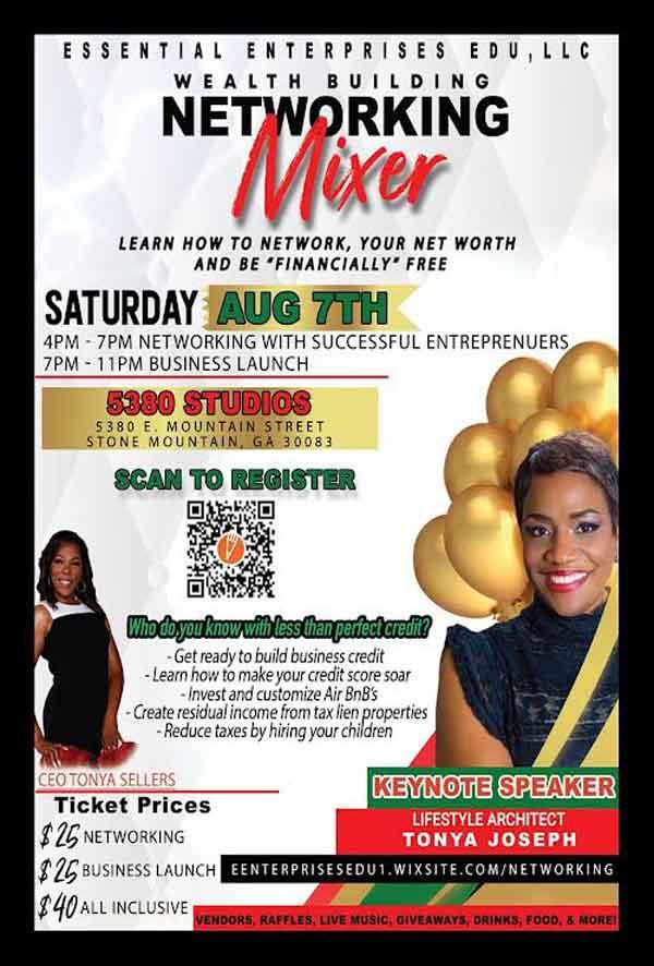 Atlanta Business Networking Flyer Aug 2021