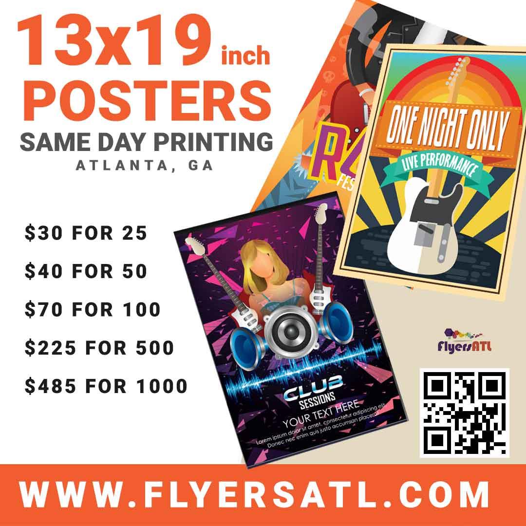 Cheap Poster Printing in Atlanta, GA