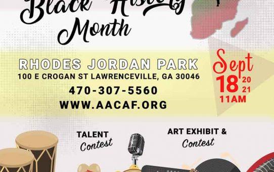 Black History Event Atlanta Sept. 2021