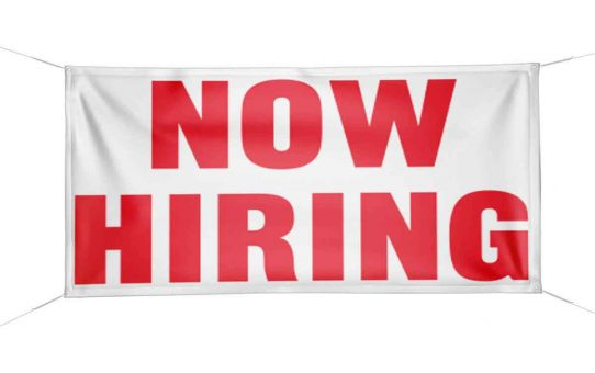 Print Now Hiring Banners